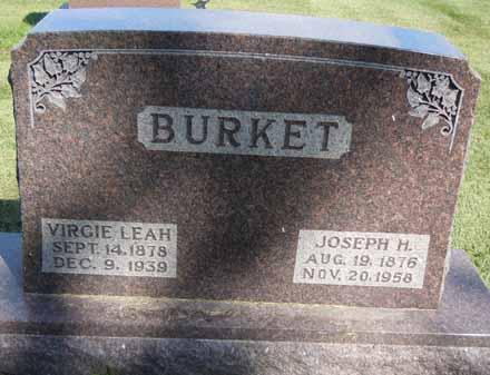 BURKET, VIRGIE LEAH - Dallas County, Iowa   VIRGIE LEAH BURKET