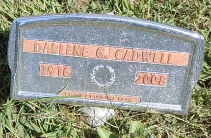 CADWELL, DARLENE G - Dallas County, Iowa   DARLENE G CADWELL