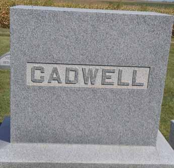 CADWELL, FAMILY STONE - Dallas County, Iowa   FAMILY STONE CADWELL