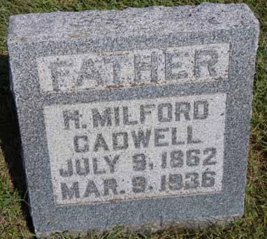 CADWELL, H MILFORD - Dallas County, Iowa   H MILFORD CADWELL