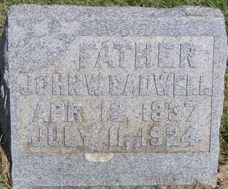 CADWELL, JOHN W - Dallas County, Iowa   JOHN W CADWELL