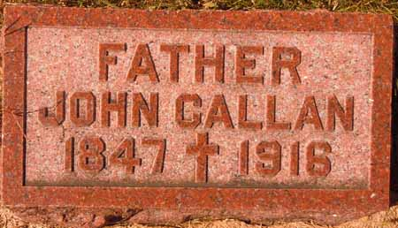 CALLAN, JOHN - Dallas County, Iowa | JOHN CALLAN