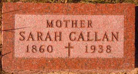 CALLAN, SARAH - Dallas County, Iowa   SARAH CALLAN