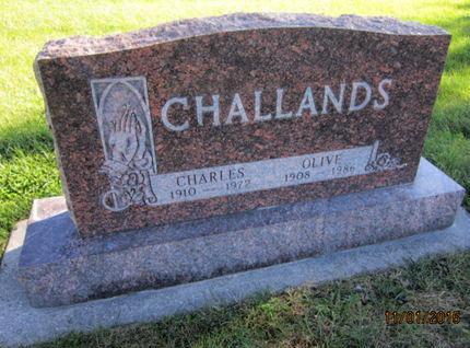 CHALLANDS, OLIVE - Dallas County, Iowa | OLIVE CHALLANDS