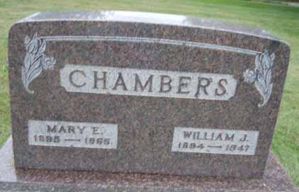 CHAMBERS, MARY E - Dallas County, Iowa   MARY E CHAMBERS
