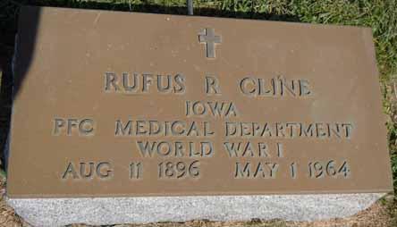 CLINE, RUFUS R - Dallas County, Iowa | RUFUS R CLINE