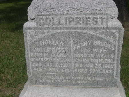 COLLIPRIEST, FANNY BROOKS - Dallas County, Iowa | FANNY BROOKS COLLIPRIEST