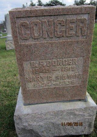 CONGER, MARY G - Dallas County, Iowa   MARY G CONGER