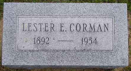 CORMAN, LESTER E - Dallas County, Iowa   LESTER E CORMAN