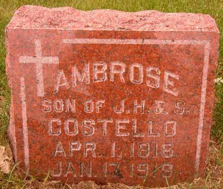 COSTELLO, AMBROSE - Dallas County, Iowa | AMBROSE COSTELLO