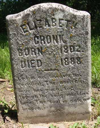 CRONK, ELIZABETH - Dallas County, Iowa   ELIZABETH CRONK