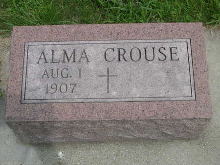 CROUSE, ALMA - Dallas County, Iowa | ALMA CROUSE