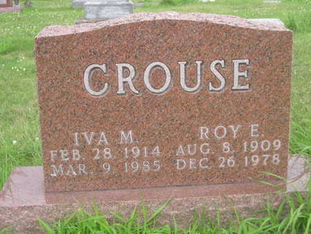 CROUSE, ROY E. - Dallas County, Iowa   ROY E. CROUSE