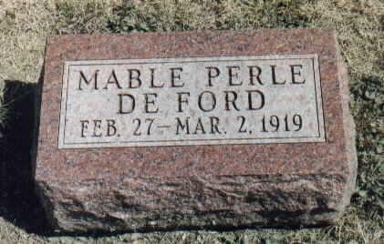 DEFORD, MABLE PERLE - Dallas County, Iowa | MABLE PERLE DEFORD