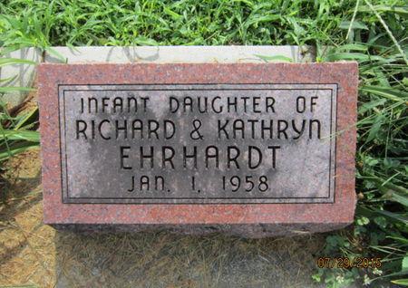 EHRHARDT, INFANT DAUGHTER - Dallas County, Iowa | INFANT DAUGHTER EHRHARDT