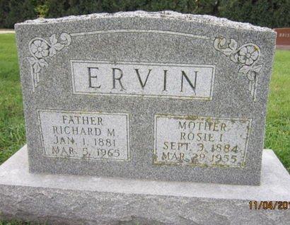 ERVIN, RICHARD M - Dallas County, Iowa | RICHARD M ERVIN