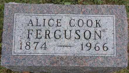 COOK FERGUSON, ALICE - Dallas County, Iowa   ALICE COOK FERGUSON