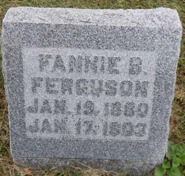 FERGUSON, FANNIE B - Dallas County, Iowa   FANNIE B FERGUSON