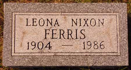 NIXON FERRIS, LEONA - Dallas County, Iowa   LEONA NIXON FERRIS