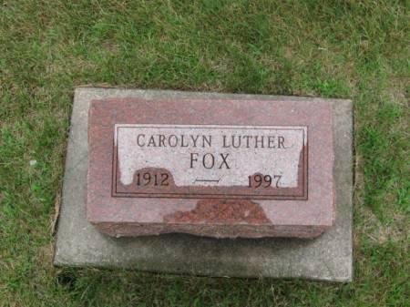 LUTHER FOX, CAROLYN - Dallas County, Iowa | CAROLYN LUTHER FOX