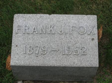 FOX, FRANK   J. - Dallas County, Iowa   FRANK   J. FOX