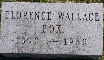 WALLACE FOX, FLORENCE - Dallas County, Iowa | FLORENCE WALLACE FOX