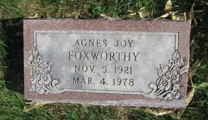 FOXWORTHY, AGNES JOY - Dallas County, Iowa | AGNES JOY FOXWORTHY