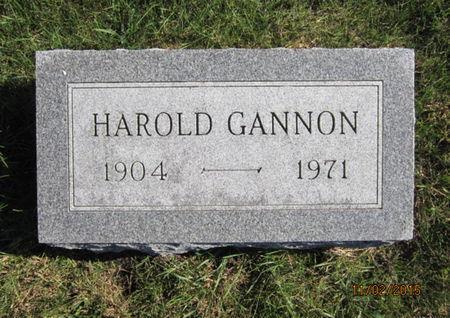 GANNON, HAROLD - Dallas County, Iowa | HAROLD GANNON