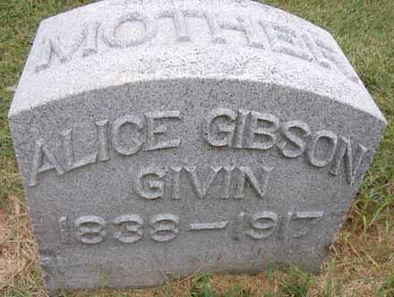 GIBSON GIVIN, ALICE - Dallas County, Iowa   ALICE GIBSON GIVIN