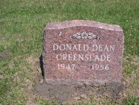 GREENSLADE, DONALD DEAN - Dallas County, Iowa | DONALD DEAN GREENSLADE
