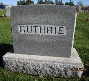 GUTHRIE, FAMILY STONE - Dallas County, Iowa   FAMILY STONE GUTHRIE