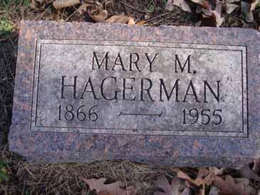 HAGERMAN, MARY M - Dallas County, Iowa   MARY M HAGERMAN