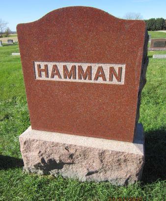 HAMMAN, FAMILY STONE - Dallas County, Iowa | FAMILY STONE HAMMAN