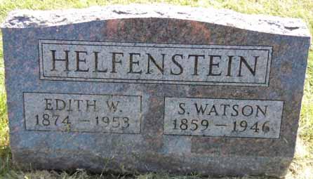 HELFENSTEIN, EDITH W - Dallas County, Iowa   EDITH W HELFENSTEIN