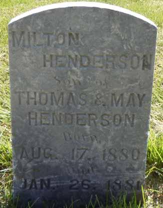 HENDERSON, MILTON - Dallas County, Iowa | MILTON HENDERSON