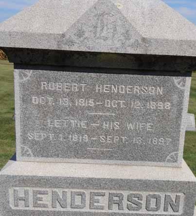 HENDERSON, ROBERT - Dallas County, Iowa   ROBERT HENDERSON