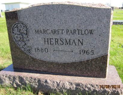 PARTLOW HERSMAN, MARGARET - Dallas County, Iowa | MARGARET PARTLOW HERSMAN