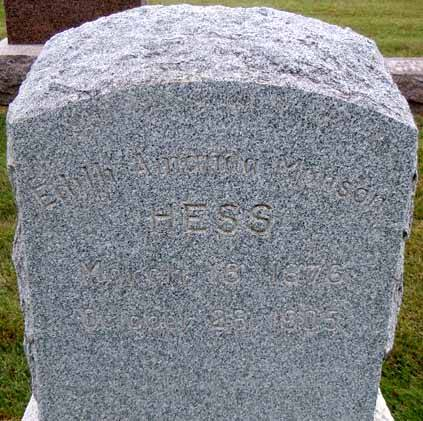 HESS, EDITH AMANDA - Dallas County, Iowa | EDITH AMANDA HESS