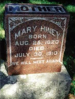 WILLIAMSON HINEY, MARY - Dallas County, Iowa | MARY WILLIAMSON HINEY