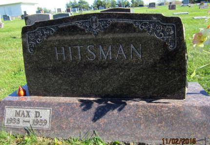HITSMAN, MAX D - Dallas County, Iowa | MAX D HITSMAN