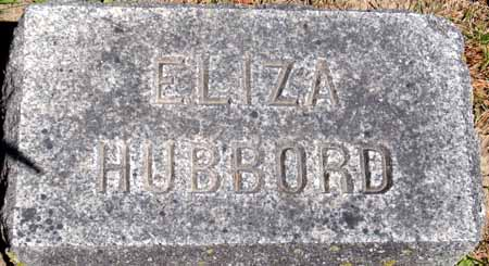 HUBBORD, ELIZA - Dallas County, Iowa | ELIZA HUBBORD