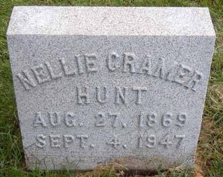 CRAMER HUNT, NELLIE - Dallas County, Iowa   NELLIE CRAMER HUNT