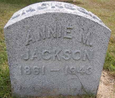 JACKSON, ANNIE M - Dallas County, Iowa   ANNIE M JACKSON