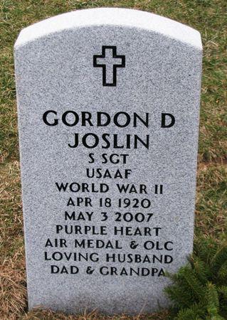 JOSLIN, GORDON D - Dallas County, Iowa | GORDON D JOSLIN