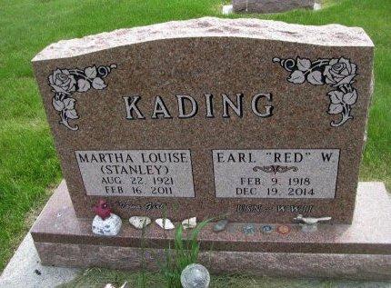 STANLEY KADING, MARTHA LOUISE - Dallas County, Iowa   MARTHA LOUISE STANLEY KADING
