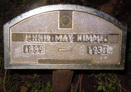 KIMMEL, JENNIE MAY - Dallas County, Iowa | JENNIE MAY KIMMEL