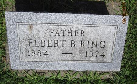 KING, ELBERT B - Dallas County, Iowa | ELBERT B KING