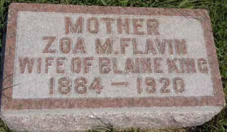 FLAVIN KING, ZOA M - Dallas County, Iowa   ZOA M FLAVIN KING