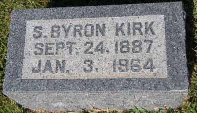 KIRK, S BYRON - Dallas County, Iowa   S BYRON KIRK