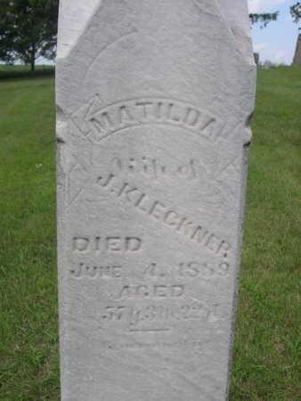 KLECKNER, MATILDA - Dallas County, Iowa | MATILDA KLECKNER